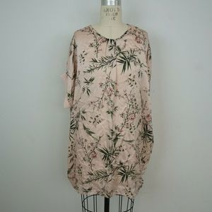 LOLA Made in Italy Tunic Floral Tree Bird Print